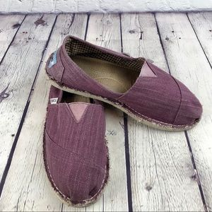 Toms Purple Canvas Loafers